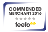 Commended Merchant 2016 - feefo