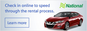 Check in online to speed through the rental process.