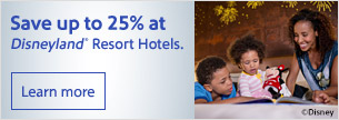 Save up to 25% at Disneyland® Resort Hotels.