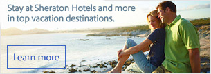 Save at Sheraton Hotels and more in top vacation destinations.