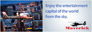 Enjoy the entertainment capital of the world from the sky.