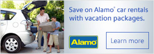 Special Savings on Car Rentals when you book a vacation!