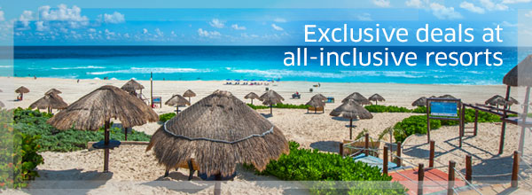 Exclusive deals at all-inclusive resorts