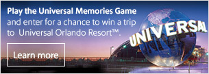 Play the Universal Memories Game and enter for a chance to win a trip to  Universal Orlando Resort™.