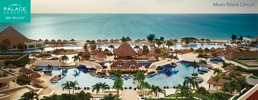 Arial view of Moon Palace Cancun