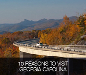 10 Reasons to visit Georgia & the Carolinas