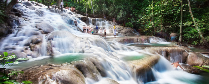 Climb the Dunns River Waterfalls