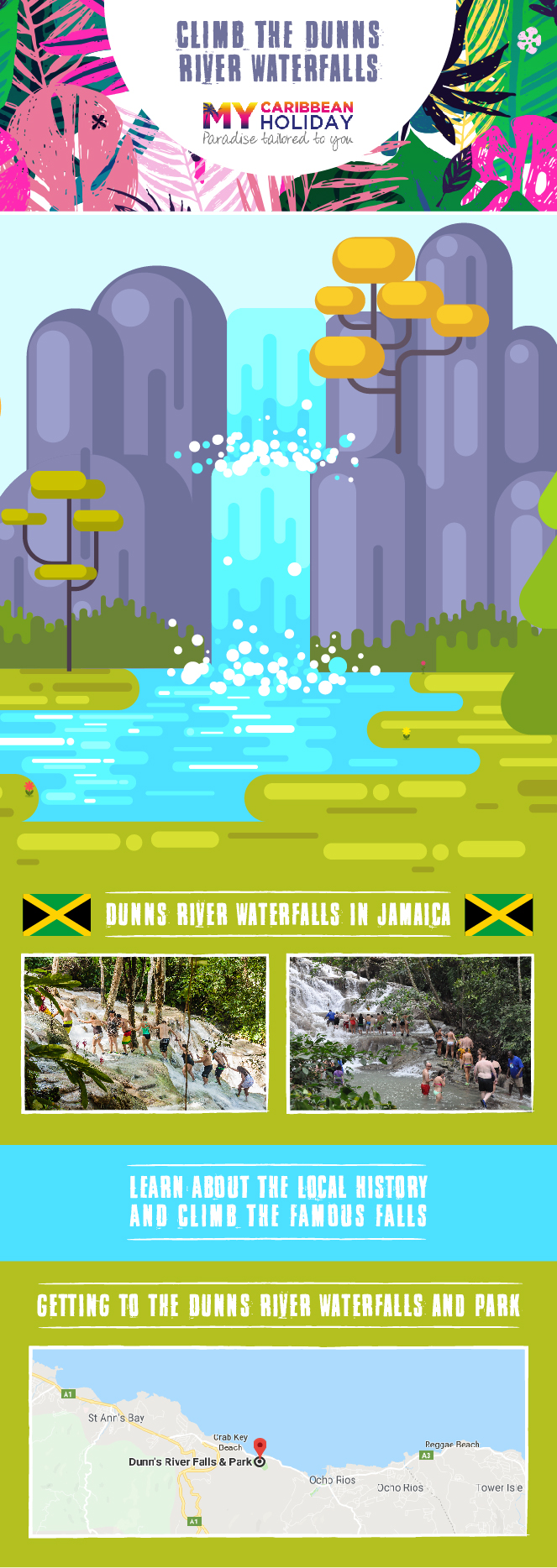 Climb the Dunn's River Waterfalls in Jamaica